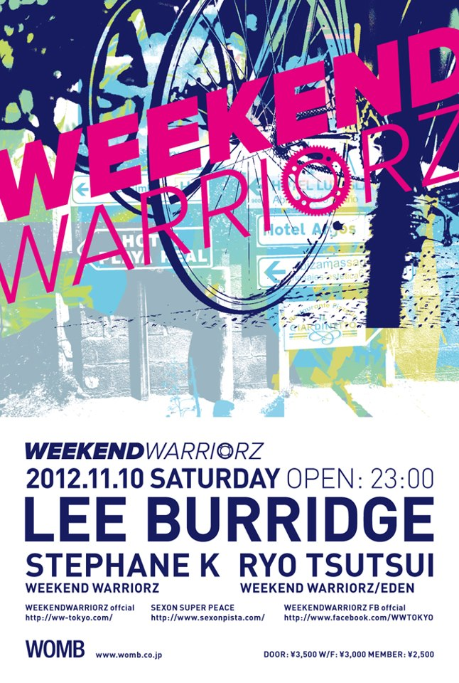 WEEKEND WARRIORZ in WOMB is COMING!!!